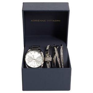 *New* Adrienne Vittadini Watch & Bracelet Box Set